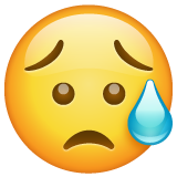 Sad but Relieved Face on WhatsApp 2.19.352
