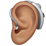 Ear with Hearing Aid: Medium Skin Tone on WhatsApp 2.19.352