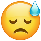 Downcast Face with Sweat on WhatsApp 2.19.352