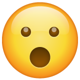 Face with Open Mouth on WhatsApp 2.19.352