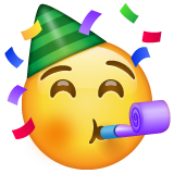 Partying Face on WhatsApp 2.19.352