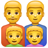 Family: Man, Man, Boy, Boy on WhatsApp 2.19.352