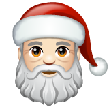 Santa Claus: Light Skin Tone on WhatsApp 2.19.352