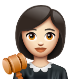 Woman Judge: Light Skin Tone on WhatsApp 2.19.352