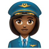 Woman Pilot: Medium-Dark Skin Tone on WhatsApp 2.19.352