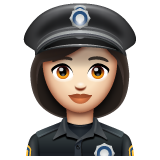 Woman Police Officer: Light Skin Tone on WhatsApp 2.19.352