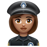 Woman Police Officer: Medium Skin Tone on WhatsApp 2.19.352