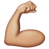 Flexed Biceps: Medium-Light Skin Tone on WhatsApp 2.19.352