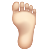 Foot: Light Skin Tone on WhatsApp 2.19.352