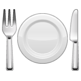 Fork and Knife with Plate on WhatsApp 2.19.352