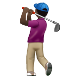 Person Golfing: Dark Skin Tone on WhatsApp 2.19.352