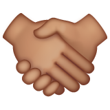 Handshake: Medium Skin Tone on WhatsApp 2.19.352