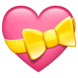 Heart with Ribbon on WhatsApp 2.19.352