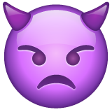 Angry Face with Horns on WhatsApp 2.19.352