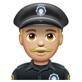 Man Police Officer: Medium-Light Skin Tone on WhatsApp 2.19.352