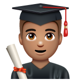 Man Student: Medium Skin Tone on WhatsApp 2.19.352