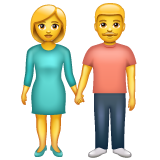 Woman and Man Holding Hands on WhatsApp 2.19.352