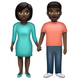 Woman and Man Holding Hands: Dark Skin Tone on WhatsApp 2.19.352