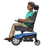 Man in Motorized Wheelchair: Medium-Dark Skin Tone on WhatsApp 2.19.352