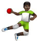 Man Playing Handball: Dark Skin Tone on WhatsApp 2.19.352