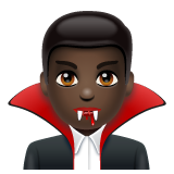 Man Vampire: Dark Skin Tone on WhatsApp 2.19.352