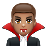 Man Vampire: Medium Skin Tone on WhatsApp 2.19.352