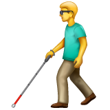 Man with White Cane on WhatsApp 2.19.352