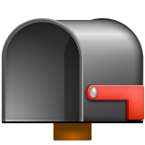 Open Mailbox with Lowered Flag on WhatsApp 2.19.352