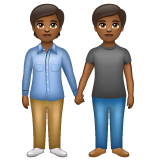 People Holding Hands: Medium-Dark Skin Tone on WhatsApp 2.19.352