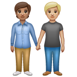 People Holding Hands: Medium Skin Tone, Medium-Light Skin Tone on WhatsApp 2.19.352