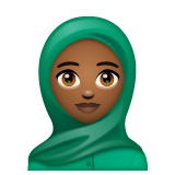 Woman with Headscarf: Medium-Dark Skin Tone on WhatsApp 2.19.352