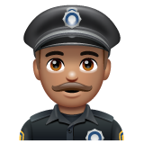 Police Officer: Medium Skin Tone on WhatsApp 2.19.352