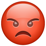 Pouting Face on WhatsApp 2.19.352