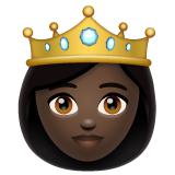 Princess: Dark Skin Tone on WhatsApp 2.19.352