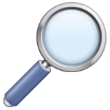 Magnifying Glass Tilted Right on WhatsApp 2.19.352