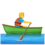Person Rowing Boat on WhatsApp 2.19.352