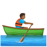 Person Rowing Boat: Medium-Dark Skin Tone on WhatsApp 2.19.352