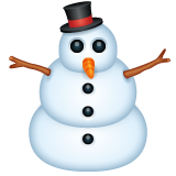 Snowman Without Snow on WhatsApp 2.19.352