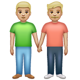 Men Holding Hands: Medium-Light Skin Tone on WhatsApp 2.19.352