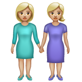 Women Holding Hands: Medium-Light Skin Tone on WhatsApp 2.19.352