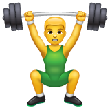Person Lifting Weights on WhatsApp 2.19.352