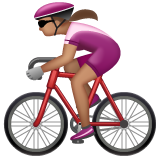 Woman Biking: Medium Skin Tone on WhatsApp 2.19.352