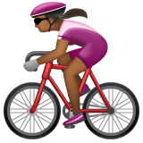Woman Biking: Medium-Dark Skin Tone on WhatsApp 2.19.352