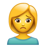 Woman Frowning on WhatsApp 2.19.352