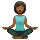 Woman in Lotus Position: Medium-Dark Skin Tone on WhatsApp 2.19.352