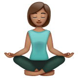 Woman in Lotus Position: Medium Skin Tone on WhatsApp 2.19.352