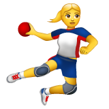 Woman Playing Handball on WhatsApp 2.19.352