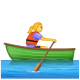 Woman Rowing Boat on WhatsApp 2.19.352