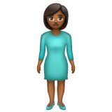Woman Standing: Medium-Dark Skin Tone on WhatsApp 2.19.352