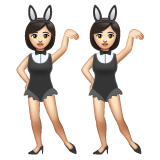 Women With Bunny Ears Partying, Type-1-2 on WhatsApp 2.19.352